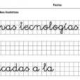 letra caligrafica