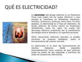 tipo de electricidad